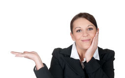Geschäftsfrau dargestellt Stockfotos