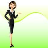 Geschäftsfrau (Darstellen) Stock Abbildung