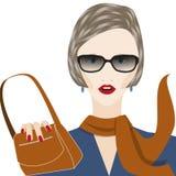 Geschäftsfrau in den Gläsern Lizenzfreies Stockfoto