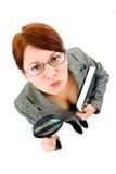 Geschäftsfrau in der Forschung Lizenzfreie Stockfotos