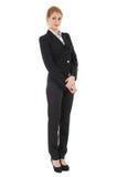 Geschäftsfrau in der schwarzen Klage Lizenzfreie Stockbilder