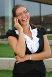 Geschäftsfrau in der Stadt Lizenzfreie Stockbilder