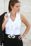 Geschäftsfrau in der Stadt Lizenzfreies Stockfoto