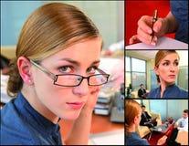 Geschäftsfrau in der Tätigkeit lizenzfreie stockbilder