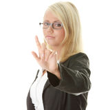 Geschäftsfrau, die choise bildet Stockfotos