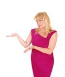 Geschäftsfrau, die Darstellung bildet Stockfotos