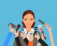 Geschäftsfrau, die ein Interview gibt Stockfotos