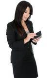 Geschäftsfrau, die ein pda verwendet Stockfoto