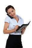 Geschäftsfrau, die eine Verabredung festlegt lizenzfreie stockfotos