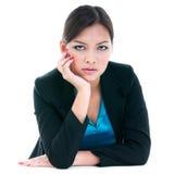 Geschäftsfrau, die ernst schaut Stockfotos