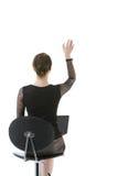 Geschäftsfrau, die ihre Hand wellenartig bewegt Lizenzfreies Stockfoto