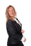 Geschäftsfrau, die im Profil steht Stockbilder