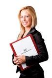 Geschäftsfrau, die nach einem neuen Job sucht Stockbild