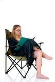 Geschäftsfrau, die nach Hause arbeitet lizenzfreies stockfoto