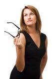 Geschäftsfrau, die oben schaut Lizenzfreies Stockfoto
