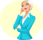 Geschäftsfrau, die per Telefon spricht Lizenzfreies Stockfoto
