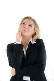Geschäftsfrau, die, planierend denkt Stockfotografie