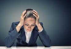 Geschäftsfrau, die Probleme hat Stockfotografie