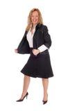 Geschäftsfrau, die sehr glücklich schaut Lizenzfreie Stockfotos