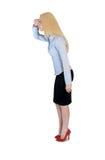 Geschäftsfrau, die Seite schaut Lizenzfreie Stockfotos