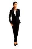 Geschäftsfrau, die stilles Zeichen macht lizenzfreie stockfotos