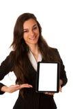 Geschäftsfrau, die Tablette zeigt Lizenzfreie Stockfotografie