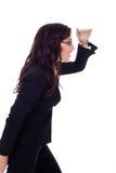 Geschäftsfrau, die vorwärts schaut Lizenzfreie Stockfotos