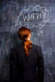 Geschäftsfrau, die wo fragt Lizenzfreies Stockfoto
