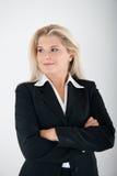 Geschäftsfrau in einer Klage Stockbilder