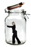 Geschäftsfrau eingeschlossen. Stockbild