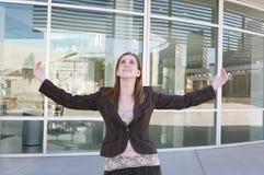 Geschäftsfrau-Erfolg stockfoto