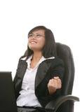 Geschäftsfrau-Erfolg lizenzfreie stockfotos
