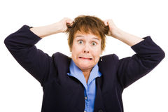 Geschäftsfrau - Frustration stockfotografie