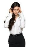 Geschäftsfrau frustriert und betont lizenzfreie stockfotografie