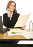 Geschäftsfrau-Funktion Lizenzfreie Stockfotografie
