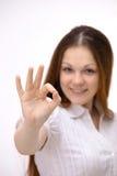 Geschäftsfrau. Getrennt über Weiß Lizenzfreie Stockbilder