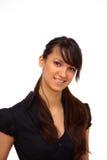Geschäftsfrau. Getrennt Lizenzfreies Stockbild