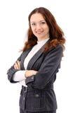 Geschäftsfrau. Getrennt Lizenzfreie Stockbilder