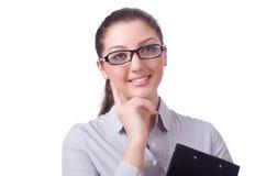 Geschäftsfrau getrennt Stockfotografie