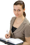 Geschäftsfrau, getrennt Stockfotos