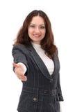 Geschäftsfrau gibt Lizenzfreie Stockbilder
