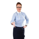 Geschäftsfrau gibt einen Händedruck Lizenzfreie Stockbilder
