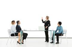Geschäftsfrau Giving Presentation Lizenzfreie Stockfotos