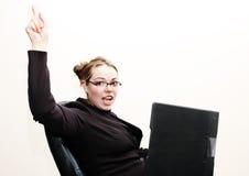 Geschäftsfrau glücklich lizenzfreie stockbilder