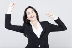 Geschäftsfrau glücklich Lizenzfreies Stockbild