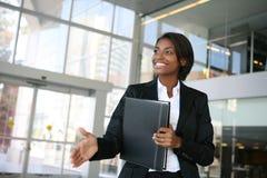 Geschäftsfrau-Händedruck Lizenzfreies Stockbild