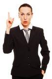 Geschäftsfrau haben eine Idee Stockfoto