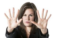 Geschäftsfrau-Handhalt Lizenzfreie Stockbilder