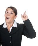 Geschäftsfrau hat eine Idee Stockfoto