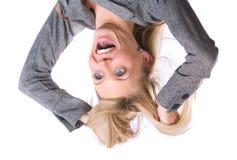 Geschäftsfrau heraus betont Stockfotos